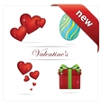 creative love and hearts symbols set vector image vector image
