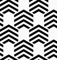 Black and white striped hexagons vector image
