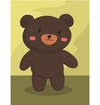 Black Bear Cartoon vector image