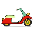 isolated Classic moped vector image