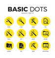 magic flat icons set vector image