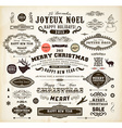 Retro Christmas Icon Set vector image