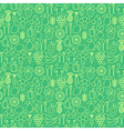 seamless pattern with trendy icons of healthy eco vector image