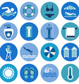 Swimming Pool beach icons vector image