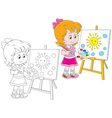 Little artist vector image vector image