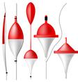 Set of fishing bobbers vector image