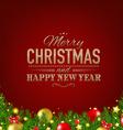 Dark Red Luxury Christmas Background vector image
