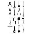 Gardening tools icons set vector image vector image