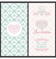 Vintage card templates Wedding married vector image