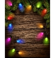 Christmas light with fir branches vector image vector image