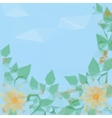 Flowers Leaves and Sky Low Poly vector image
