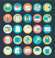 Office Colored Icons 1 vector image