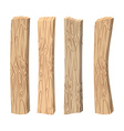 Old wooden boards Wood set on white background vector image