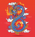 Colorful Traditional Chinese oriental Dragon vector image