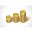 Graph from money coins vector image vector image