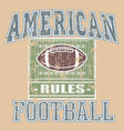 American FOOTBALL Rule vector image