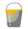 bucket with paint cartoon vector image