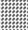 Geometrical pattern with gray and black squares vector image