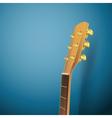 guitar head on blue vector image