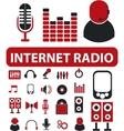 internet radio signs vector image