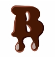 Letter B from latin alphabet made of chocolate vector image