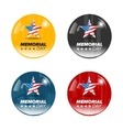 memorial day badges vector image