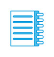 notebook page isolated vector image