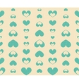Retro Seamless Pattern with Blue Hearts vector image