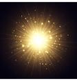 Golden explosion vector image