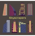 Skyscrapers icons set vector image