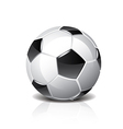 object soccer ball vector image vector image
