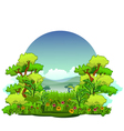 beauty nature background vector image vector image