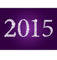 diamond 2015 purple vector image vector image