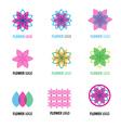 Flower logo 002 vector image