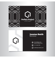 elegant geometric black and white business vector image
