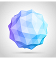 Abstract 3d origami sphere vector image vector image