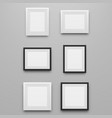 black and white realistic picture frames set vector image