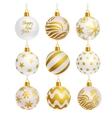 christmas tree balls icons vector image