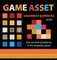 game asset seamless patterns vector image