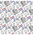 hand drawn seamless pattern with holland city vector image