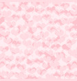 heart pattern seamless pink love background vector image