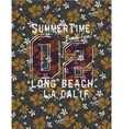 Long beach glamour girl vector image