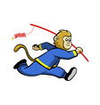 Monkey And Firecrackers vector image
