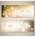Set of Elegant Christmas banners with stars vector image