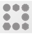 Set of grey Stamps Distressed Stamp Texture Post vector image