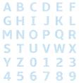 uppercase alphabet graph paper vector image