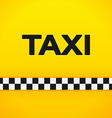 Taxi Word on Yellow Background vector image
