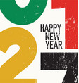 2017 Happy New Year Card Grunge vector image
