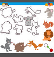 educational activity with cute animals vector image