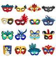 venetian carnival masks set vector image